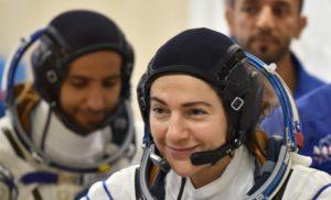 Les dones caminen soles a l'espai