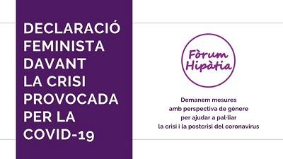 Declaració Feminista davant la crisi provocada per la COVID19